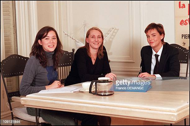 French Tv Host Marine Vignes On January 12Th France With Assistant Helene And Producer Charlotte