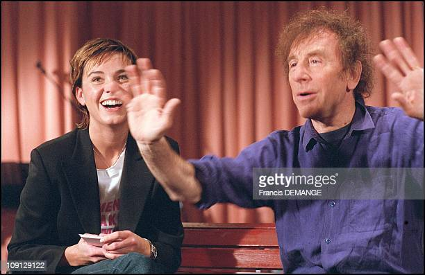 French Tv Host Marine Vignes On January 12Th France With Singer Alain Souchon