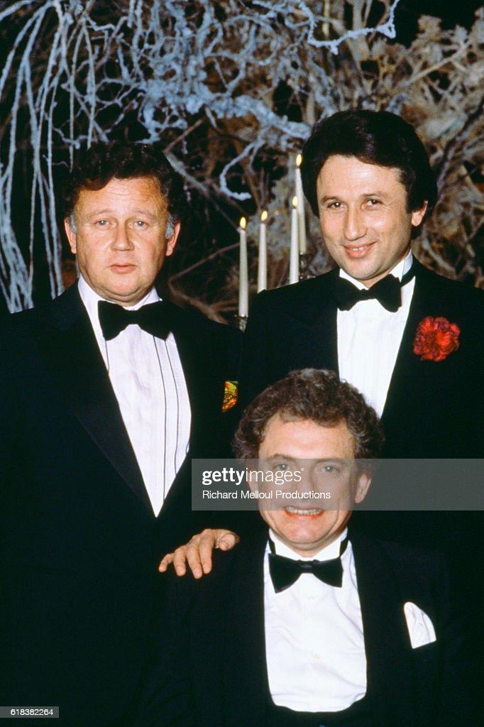 Philippe Bouvard, Jacques Martin, and Michel Drucker : Photo d'actualité