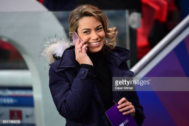 French tv journalist Anne Laure Bonnet during the French Ligue 1 match between Paris Saint Germain and Lille at Parc des Princes on February 7 2017...