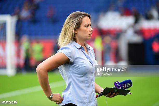 French tv journalist Anne Laure Bonnet during the Ligue 1 match between Paris Saint Germain and AS Saint Etienne at Parc des Princes on August 25...