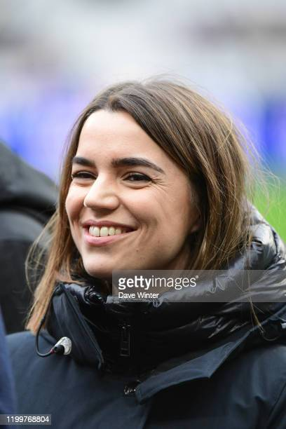 French tv journalist Cecile GRES during the Six Nations match between France and Italy on February 9, 2020 in Paris, France.