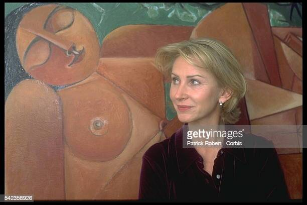 French TV journalist Marine Jacquemin at home in Paris