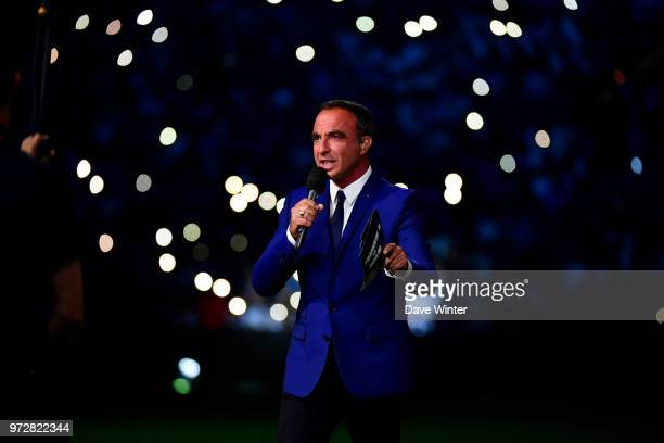 French tv journalist Nikos Aliagas during the Legends Game match between France 98 and Fifa 98 at U Arena on June 12 2018 in Nanterre France