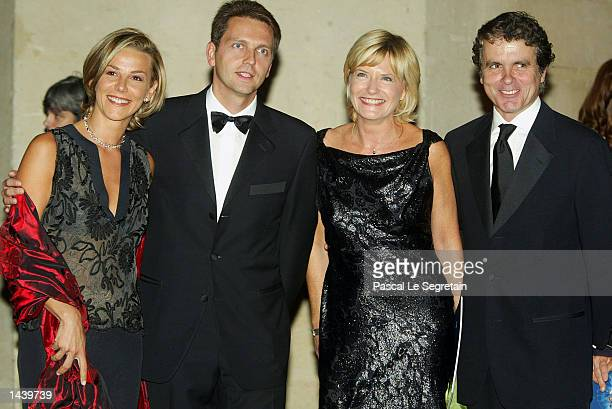 French TV journalists Laurence Ferrari Thomas Hugues Catherine Ceylac and PierreLuc Seguillon attend a gala dinner held to raise money for the Jordan...