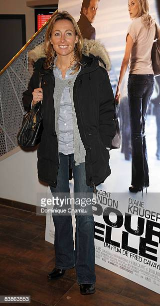 French TV personality AnneSophie Lapix attends 'Pour Elle' Paris Premiere at the Paramount Opera on November 30 2008 in Paris France