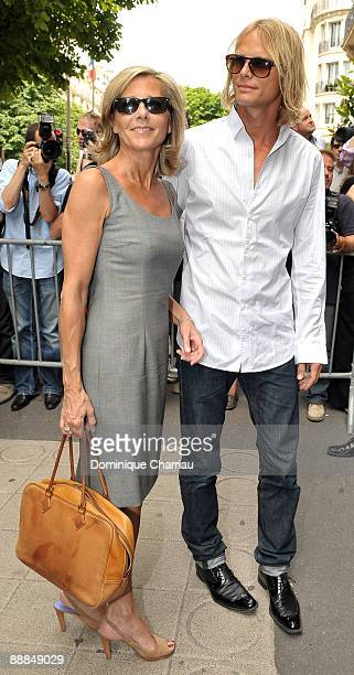 French TV personality Claire Chazal and French Model Arnaud Lemaire attend Christian Dior Paris Fashion Week Haute Couture A/W 2009/10 at Christian...