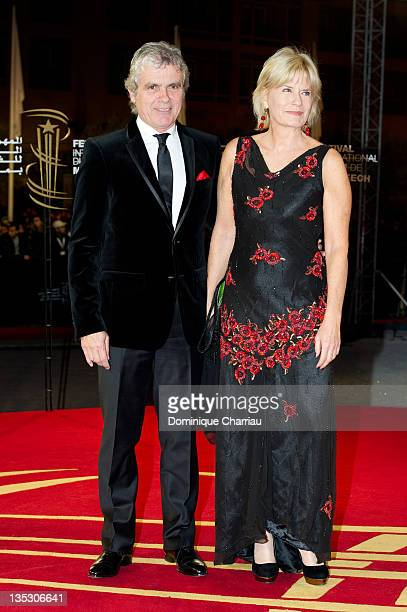 French TV personality Claude Serillon and his wife Catherine Ceylac attend 'Texas Killing Fields' Red Carpet Premiere during Marrakech International...