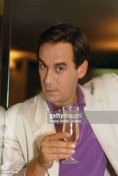 French TV presenter and journalist Thierry Ardisson at Parisian nightclub Les Bains Douches to present a television program for Channel 5