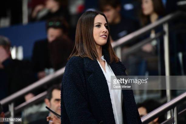 French tv presenter Charlotte Namura during the French Cup match between Paris Saint Germain and Dijon at Parc des Princes on February 26 2019 in...