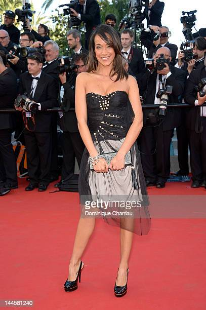 French TV Presenter Karine Lima attends the Opening Ceremony and 'Moonrise Kingdom' Premiere during the 65th Annual Cannes Film Festival at the...