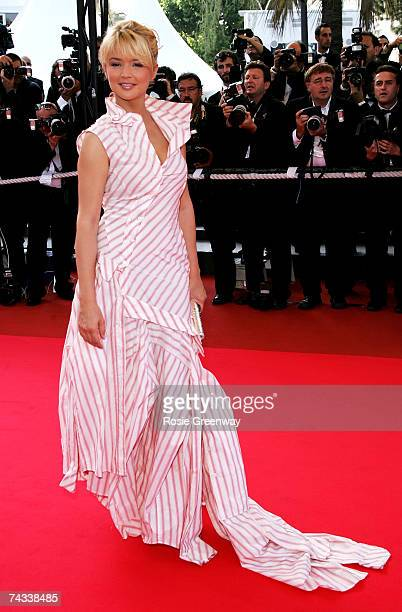French TV presenter Virginie Efira attends the premiere for the film 'Promise Me This' at the Palais des Festivals during the 60th International...