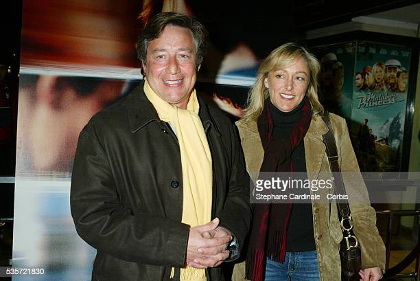 French TV show host Patrick Sabatier and his wife attend the premiere of 'Une Vie à T'Attendre'