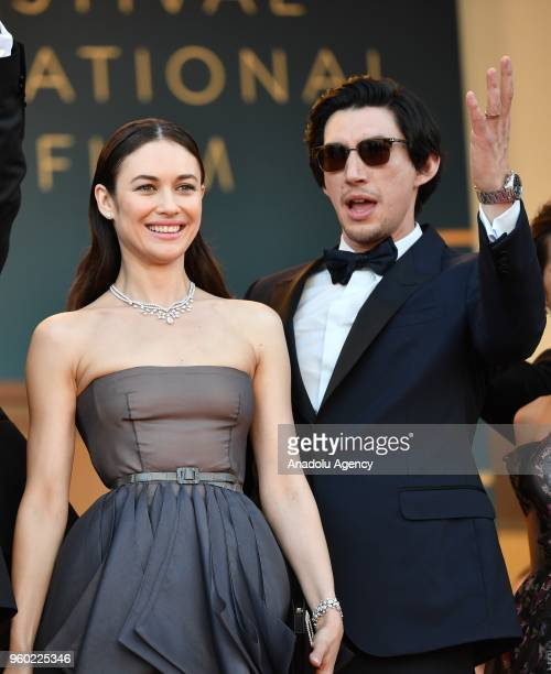French Ukrainian actress Olga Kurylenko and US actor Adam Driver arrive for the screening of 'The Man who Killed Don Quixote' and Closing Awards...