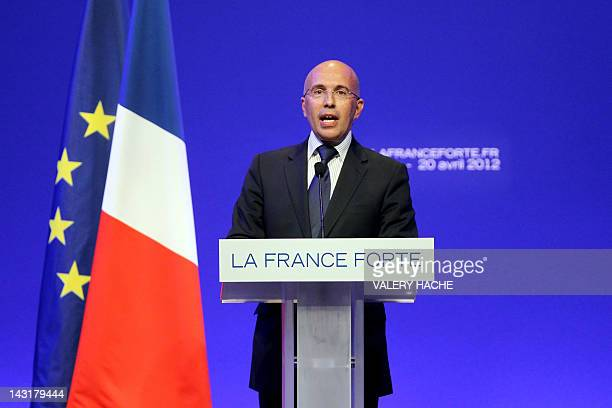 French UMP rightwing ruling party Member of Parliament and AlpesMaritimes general council President Eric Ciotti delivers a speech during a campaign...
