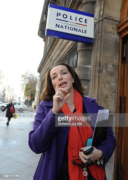 French UMP rightwing ruling party MP for the BouchesduRhône region Valerie Boyer who authored the Armenian Genocide denial bill answers journalists...
