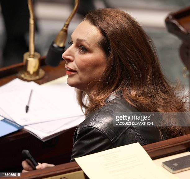French UMP rightwing ruling party MP for the BouchesduRhône Valerie Boyer who authored Armenian Genocide denial bill attends at the French National...