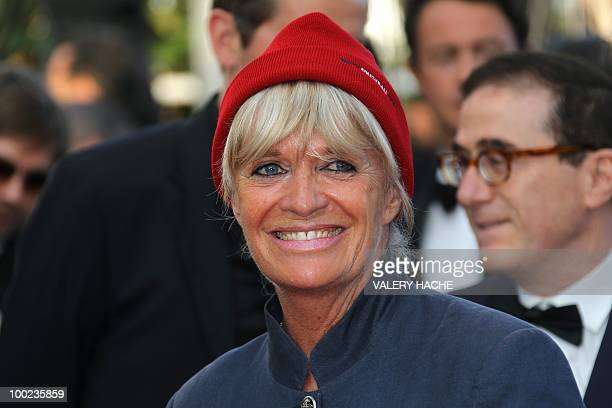 French undersea explorer Jacques Cousteau's widow Francine Cousteau arrives for the screening of Utomlyonnye Solntsem 2 Predstoyanie presented in...