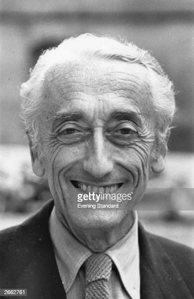 French underwater explorer photographer filmmaker author and inventor Jacques Cousteau