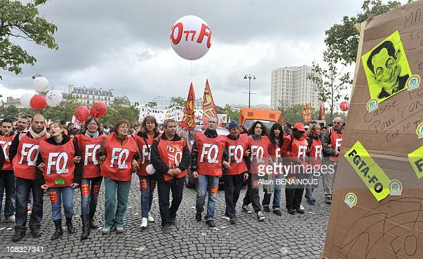 French unions have staged a national day of strikes over the government's pension reforms President Nicolas Sarkozy is attempting to bring in reforms...