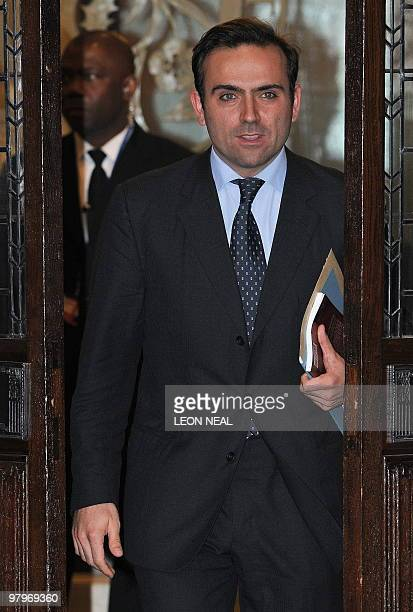 French university researcher Nicolas Granatino leaves the Supreme Court in central London on March 23 2010 A battle by one of Europe's richest women...