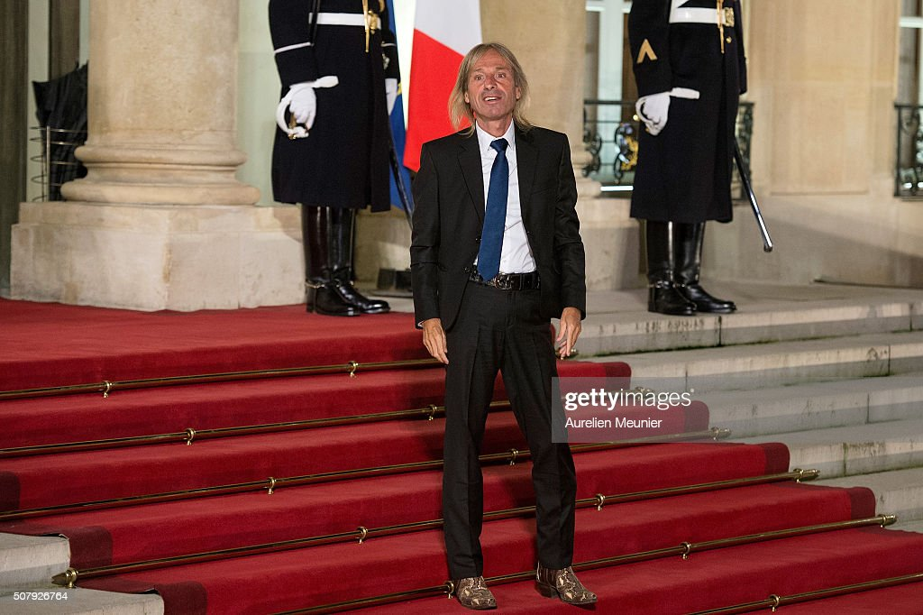 French urban climber Alain Robert arrives at Elysee Palace as French President Francois Hollande receives the Cuban President Raul Castro for a State Diner on February 1, 2016 in Paris, France. During the visit of Cuban President in Franche, around a dozen commercial, tourism and fair trade contracts were signed as France want to be the leader on the Cuban market.