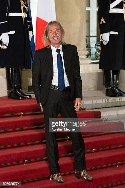 French urban climber Alain Robert arrives at Elysee Palace as French President Francois Hollande receives the Cuban President Raul Castro for a State...