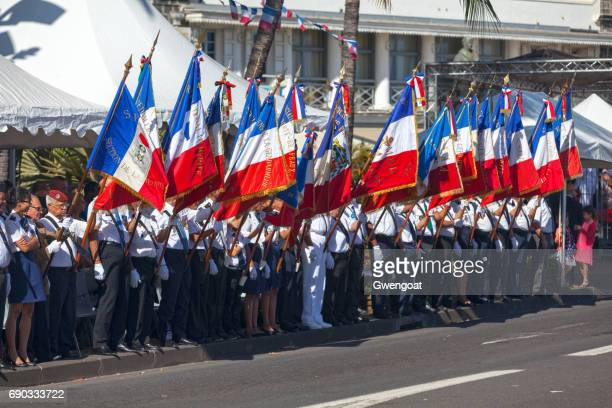 French veterans during Bastille Day