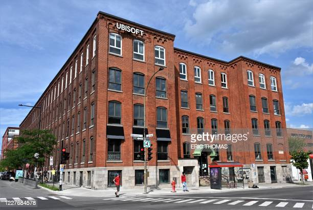 French videogame giant Ubisoft's Montreal office is seen on July 18, 2020 in Quebec, Canada. - Ubisoft Montreal is the largest videogame development...