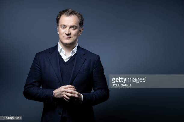 French violinist Renaud Capucon poses during a photo session in Paris on March 11 2020