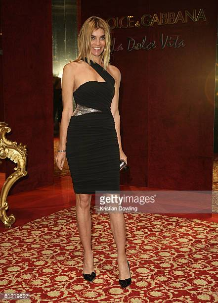 French Vogue editor Carine Roitfeld attend the Dolce Gabbana party at Baoli Port Canto during the 61st International Cannes Film Festival on May 23...