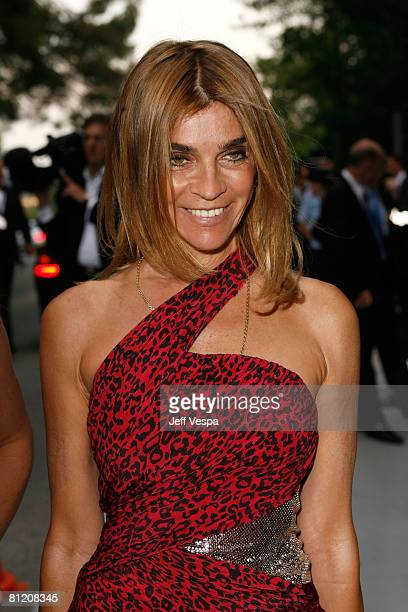 French Vogue Editor-in-Chief Carine Roitfeld arrive at amfAR's Cinema Against AIDS 2008 benefit held at Le Moulin de Mougins during the 61st...