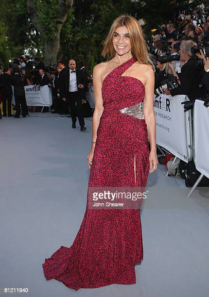 French Vogue Editor-in-Chief Carine Roitfeld arrives at amfAR's Cinema Against AIDS 2008 benefit held at Le Moulin de Mougins during the 61st...