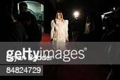 French Vogue EditorInChief Carine Roitfeld attends the Marc Jacobs Fall 2009 fashion show during MercedesBenz Fashion Week at the NY State Armory on...