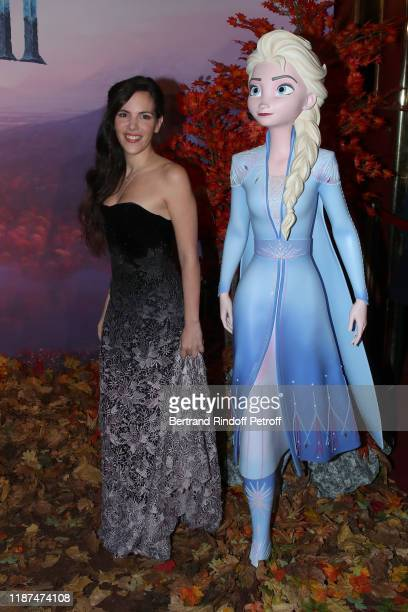 French voice of Elsa Charlotte Hervieux attends the Frozen 2 La Reine Des Neiges 2 Paris Gala Screening at Cinema Le Grand Rex on November 13 2019 in...