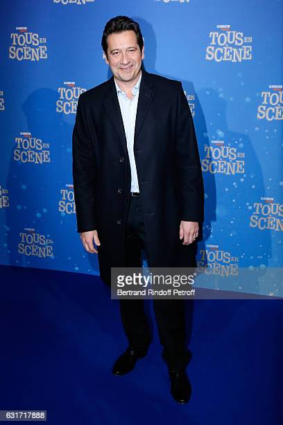 French voice of the movie imitator Laurent Gerra attends the 'Tous en Scene' Paris Premiere at Le Grand Rex on January 14 2017 in Paris France