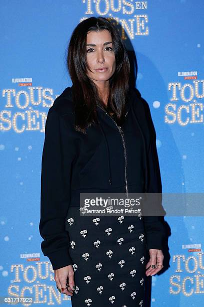 French voice of the movie singer Jenifer Bartoli attends the 'Tous en Scene' Paris Premiere at Le Grand Rex on January 14 2017 in Paris France