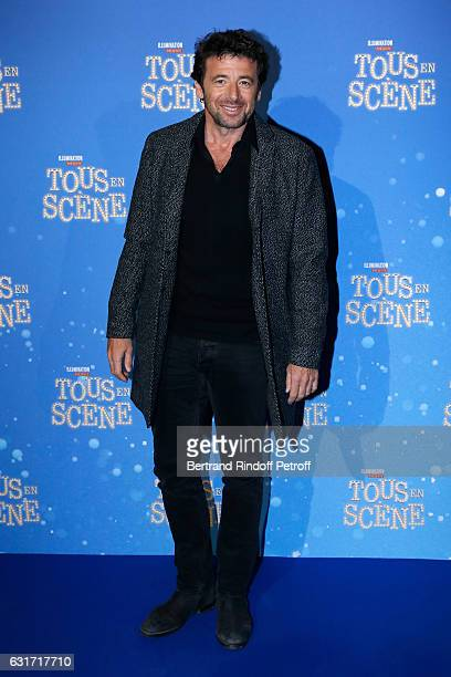 French voice of the movie singer Patrick Bruel attends the Tous en Scene Paris Premiere at Le Grand Rex on January 14 2017 in Paris France