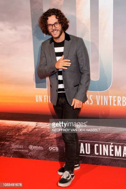 French voiceover artist Michael Gregorio poses on the red carpet prior to the premiere of the movie 'Kursk' at La Cite Du Cinema on October 25 2018...