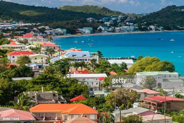 french west indies, st-martin, exterior - sint maarten caraïbisch eiland stockfoto's en -beelden