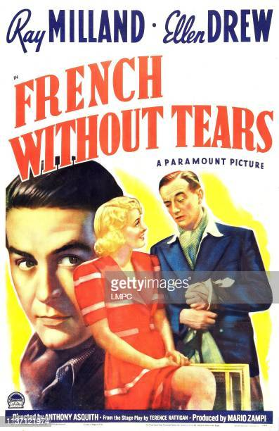 French Without Tears poster British poster Ray Milland Ellen Drew Roland Culver 1940
