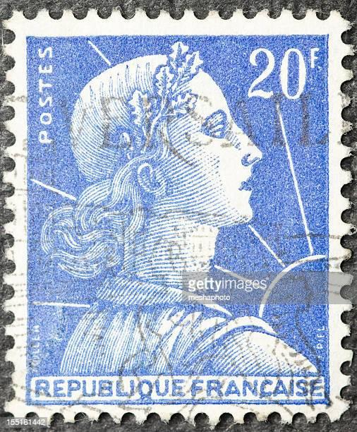 Femme Timbre-poste français