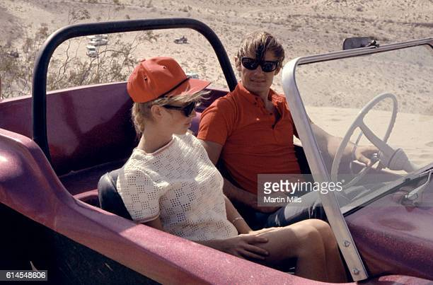French World Cup alpine ski racer Jean-Claude Killy poses for a portrait with his dune buggy circa 1967 in Las Vegas, Nevada.