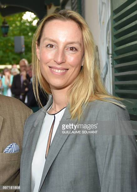 French writer Adelaide de Clermond Tonnerre poses during the 21th book fair La Foret Des Livres on August 28 2016 in ChanceauxprèsLoches central...