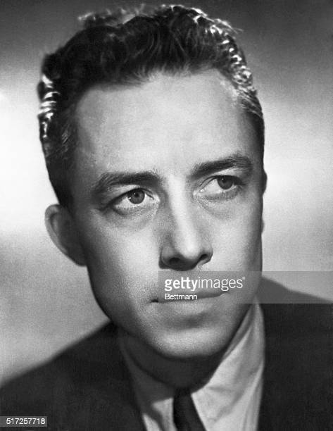 French writer Albert Camus author of The Plague and The Fall is winner of the 1957 Nobel Prize for Literature Camus was cited for 'his important...