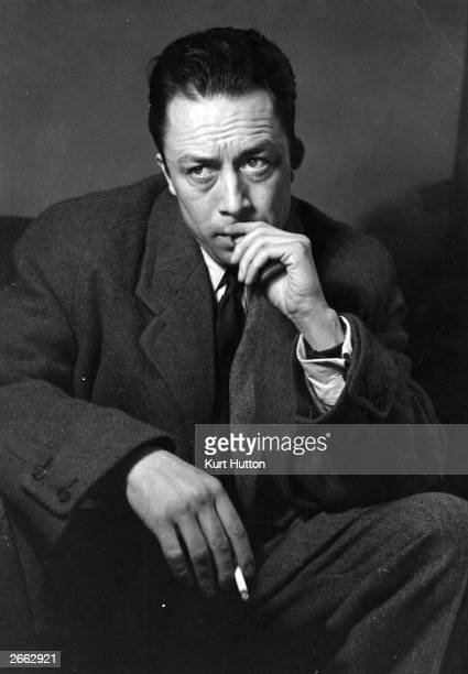 French writer Albert Camus on a visit to London. Original Publication: Picture Post 6297 - Camus The Post Existentialist - unpub. Original...