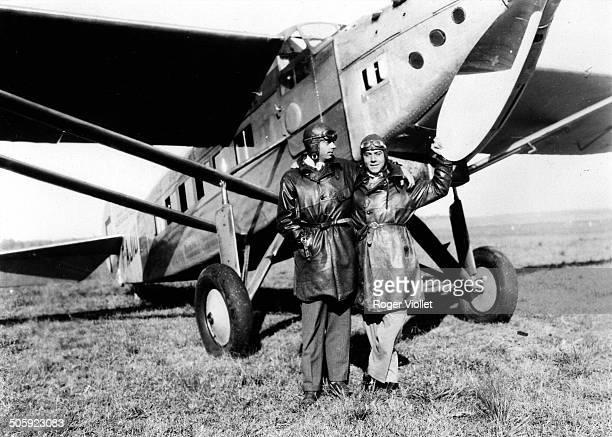French writer and aviator Antoine de Saint Exupéry 1929