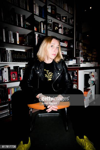 French writer and filmmaker Virginie Despentes is photographed for Grazia France Magazine on May 26 2015 in Paris France
