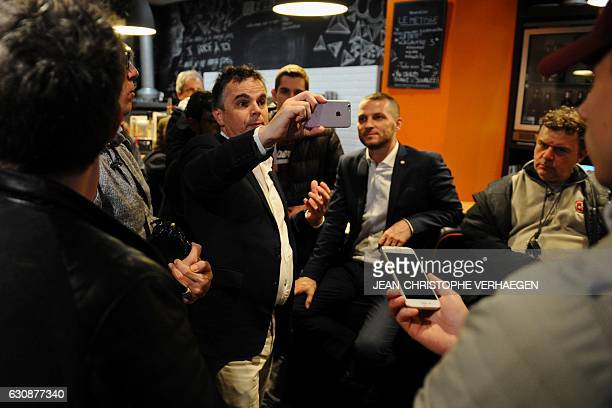 French writer and founder of the movement Entreprenez votre vie and candidate for the French 2017 presidential election Alexandre Jardin holds a...