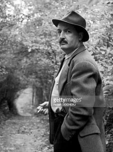 French Writer And Journalist Albert Vidalie Around 1960